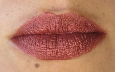 Lips after application (two coats on inner top ring), no lip liner